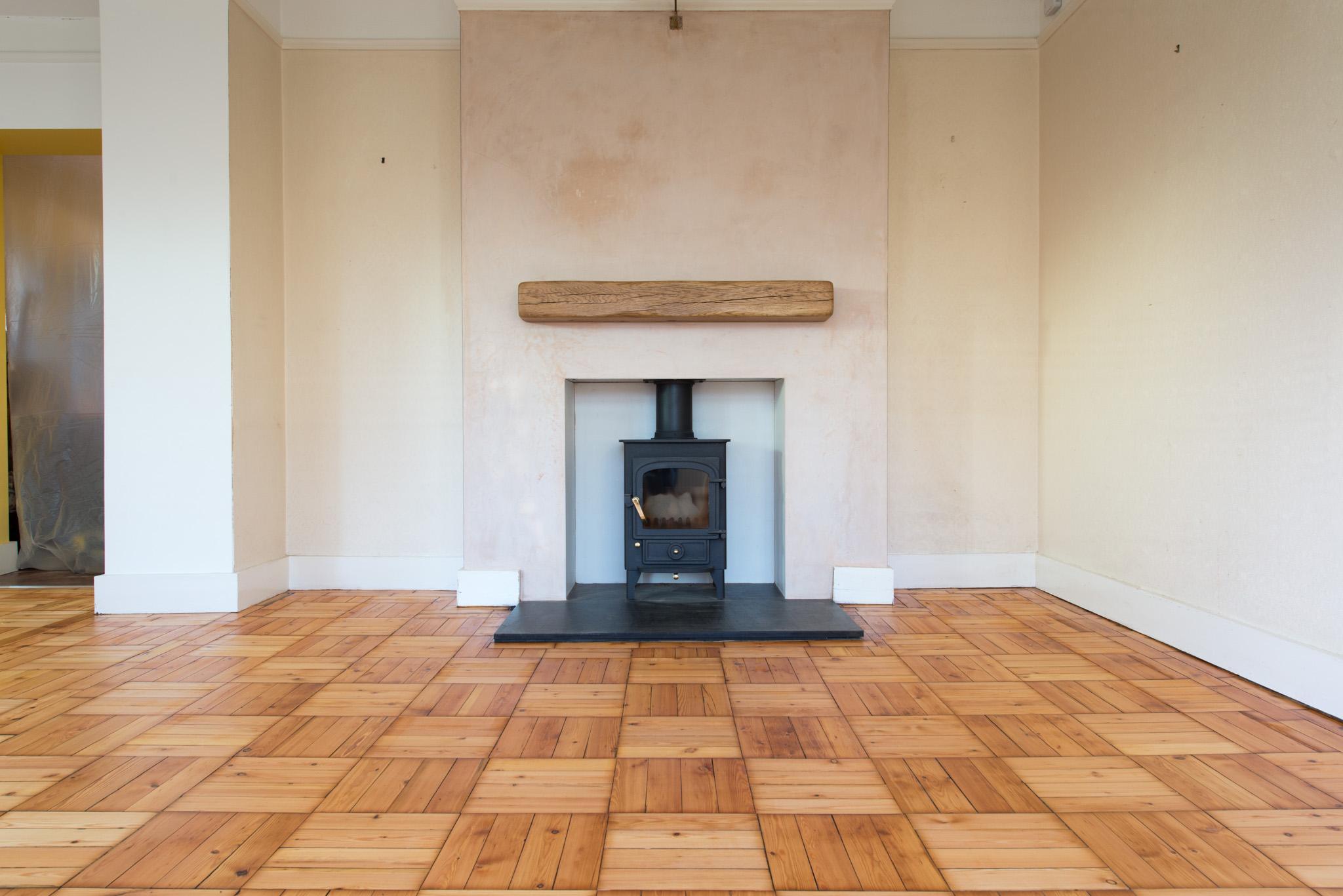 Pine Wood Blocks Sanded by Floorwork Swanage.